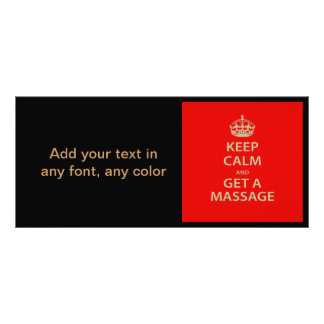 Keep Calm and Get a Massage Customized Rack Card