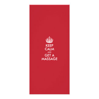 KEEP  CALM  AND  GET A MASSAGE - TEMPLATE TEXT FULL COLOR RACK CARD