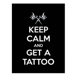 Keep calm and get a tattoo postcard