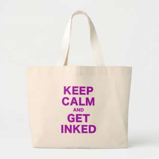 Keep Calm and Get Inked Large Tote Bag