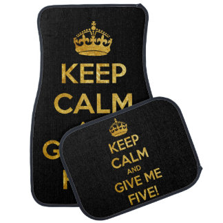 keep calm and give me five car mat