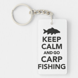 """Keep calm and go carp fishing"" keyring"
