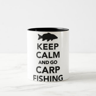 """Keep calm and go carp fishing"" mug"