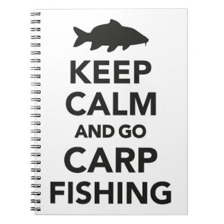 """""""Keep calm and go carp fishing"""" notebook"""
