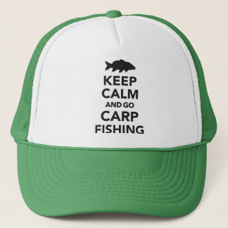 """Keep calm and go carp fishing"" trucker hat"