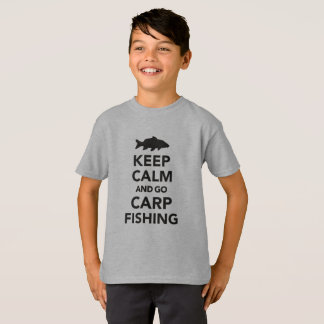 """Keep calm and go carp fishing"" tshirt  for kids"