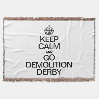 KEEP CALM AND GO DEMOLITION DERBY THROW BLANKET
