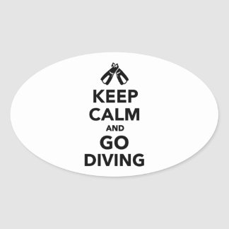 Keep calm and go Diving Oval Sticker