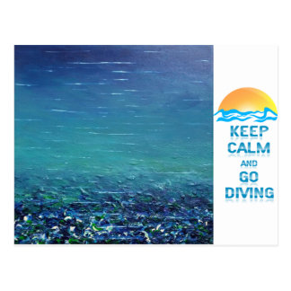 """Keep Calm and Go Diving - Postcard """"Code"""""""