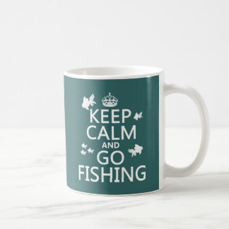 Keep Calm and Go Fishing Coffee Mug