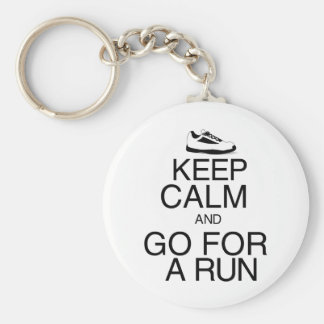 Keep Calm and Go For A Run Key Ring