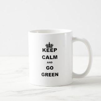 KEEP CALM AND GO GREEN BASIC WHITE MUG