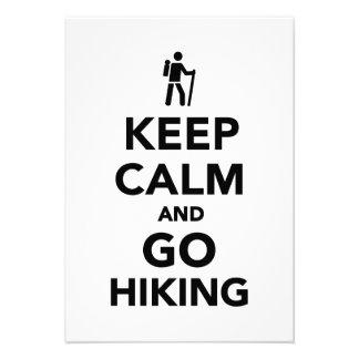 Keep calm and go hiking custom announcement
