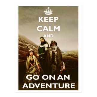 Keep Calm and Go On An Adventure - Classic Geek Postcard