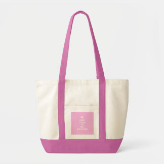 Keep Calm and Go Shopping Tote Bags