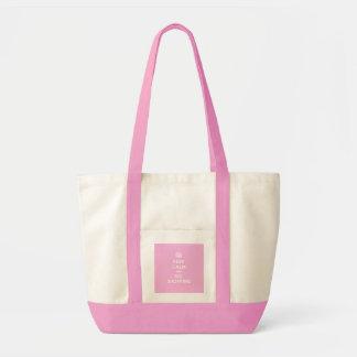 Keep Calm and Go Shopping Impulse Tote Bag