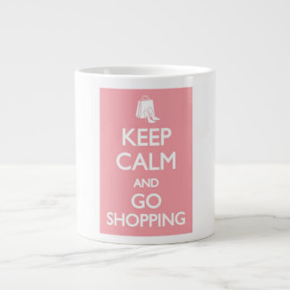 keep calm and go shopping mug