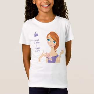 Keep Calm and Go Shopping Purple Cartoon Girl T-Shirt