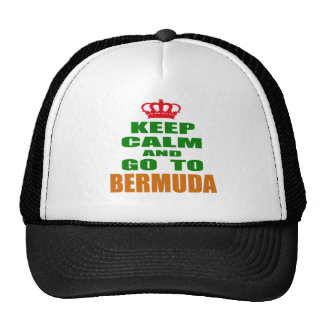 Keep calm and go to Bermuda Mesh Hat