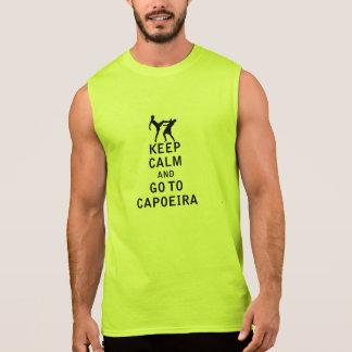 Keep Calm and Go To Capoeira Sleeveless Shirt