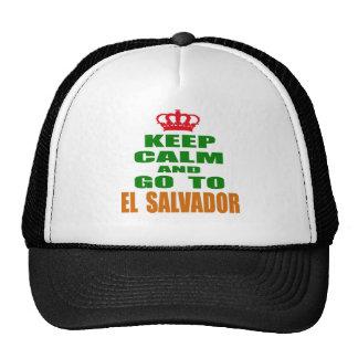 Keep calm and go to El Salvador. Hats