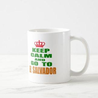 Keep calm and go to El Salvador. Mugs