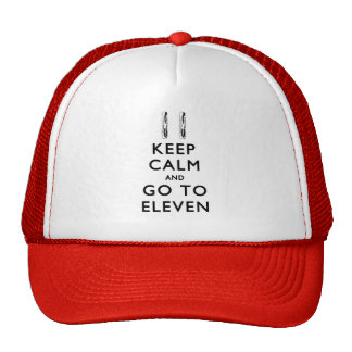 KEEP CALM And Go To Eleven with Bacon Mesh Hats