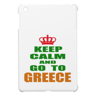Keep calm and go to Greece. iPad Mini Cover