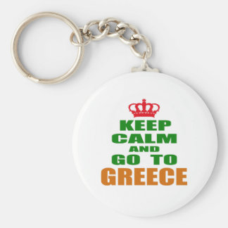 Keep calm and go to Greece. Key Chains