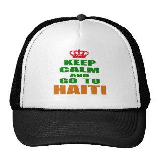 Keep calm and go to Haiti. Mesh Hat