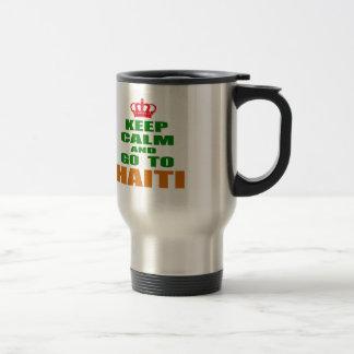 Keep calm and go to Haiti. Coffee Mugs