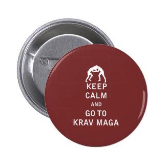 Keep Calm and Go To Krav Maga Buttons