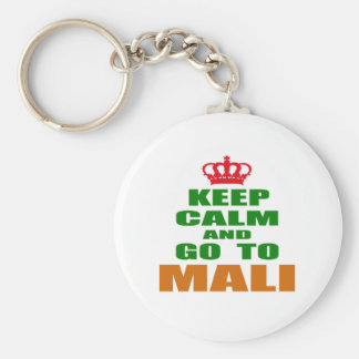 Keep calm and go to Mali. Key Ring