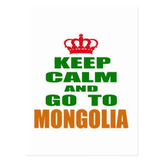 Keep calm and go to Mongolia Postcard