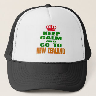 Keep calm and go to New Zealand. Trucker Hat
