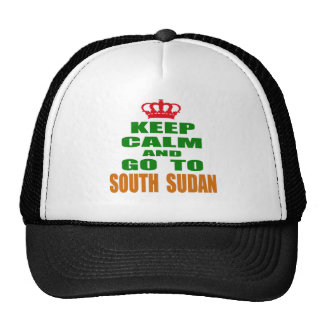 Keep calm and go to South Sudan. Mesh Hat