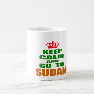 Keep calm and go to Sudan. Mugs