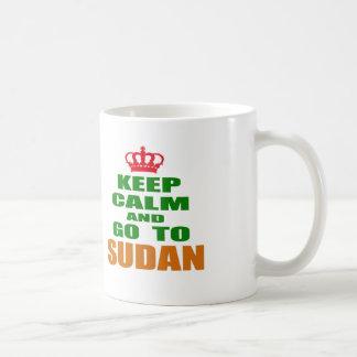 Keep calm and go to Sudan. Coffee Mug