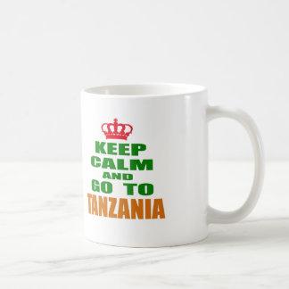 Keep calm and go to Tanzania. Coffee Mugs
