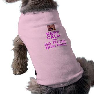 KEEP CALM AND GO TO THE DOG PARK pet shirt