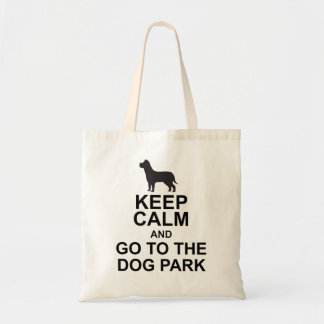 KEEP CALM AND GO TO THE DOG PARK tote