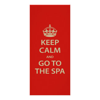 Keep Calm and Go To the Spa Personalised Rack Card