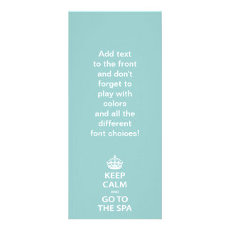 Keep Calm and Go To the Spa Rack Cards