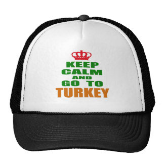 Keep calm and go to Turkey. Mesh Hat