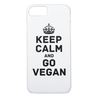 Keep calm and go vegan iPhone 7 case