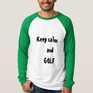 Keep calm and GOLF Men's T-shirt