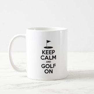 Keep Calm And Golf On Funny Golfing Mug