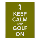KEEP calm and golf on green Print