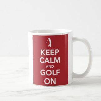 Keep Calm and Golf On mug