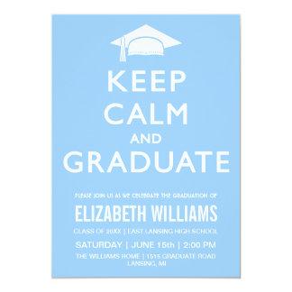 Keep Calm and Graduate Invitation - Light Blue
